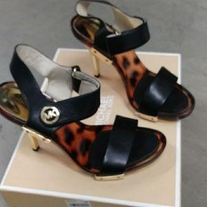 Michael khor lani sandal black leather
